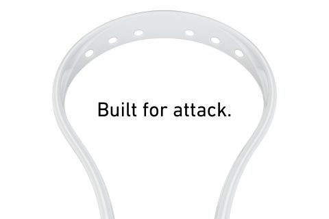 StringKing Mark 2A Unstrung Attack Lacrosse Head Face Scoop White