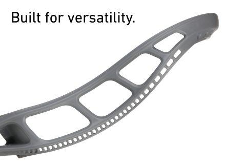 StringKing Mark 2V Unstrung Lacrosse Head Sidewall Holes Gray