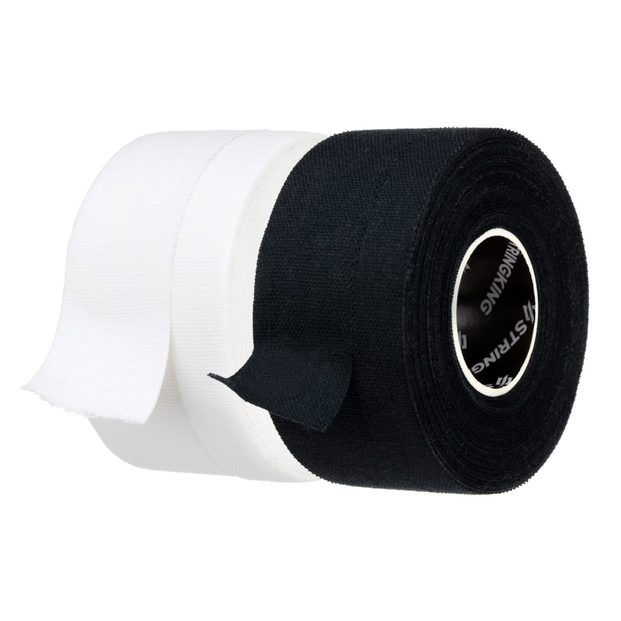 StringKing Pre Cut Lacrosse Tape White Black