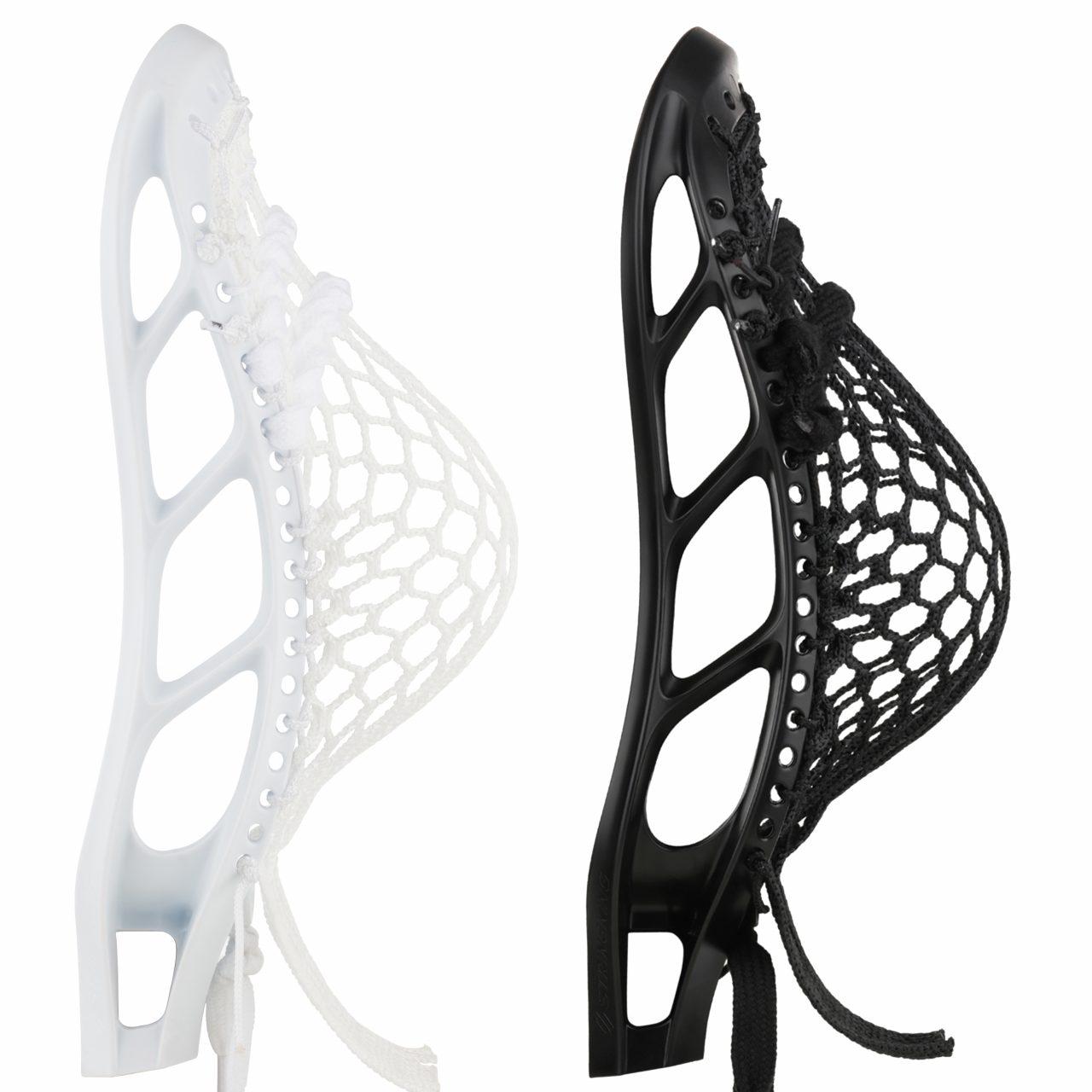 Mark 1 Lacrosse Head Black White Strung Product Image