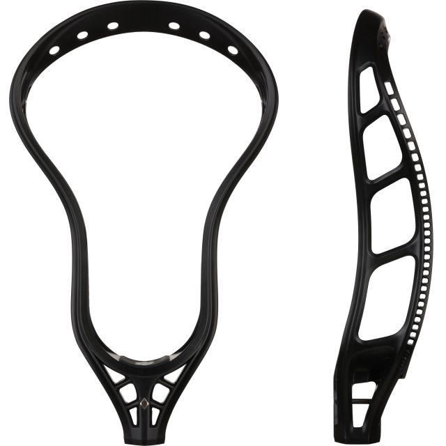 StringKing Mark 2V Men's Midfield Lacrosse Head Unstrung Black Face Sidewall View