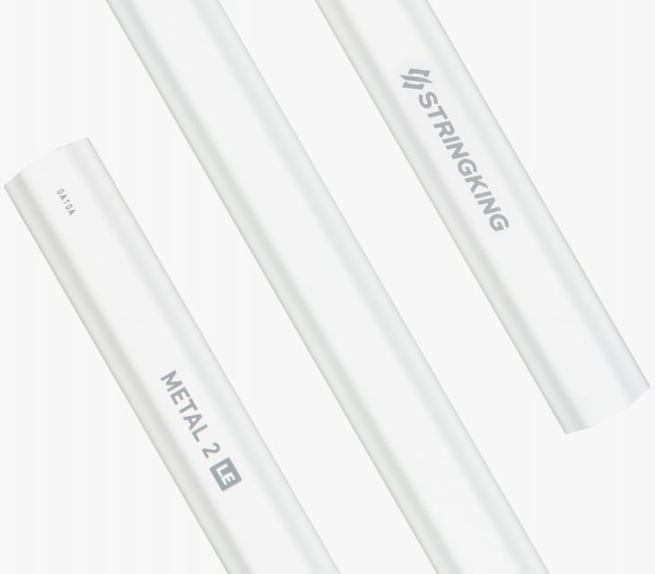 StringKing Metal 2 LE Attack Lacrosse Shaft Stacked White
