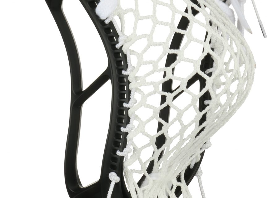 StringKing Complete 2 Intermediate Men's Lacrosse Stick Pocket Back Angle Feature Black Nickel