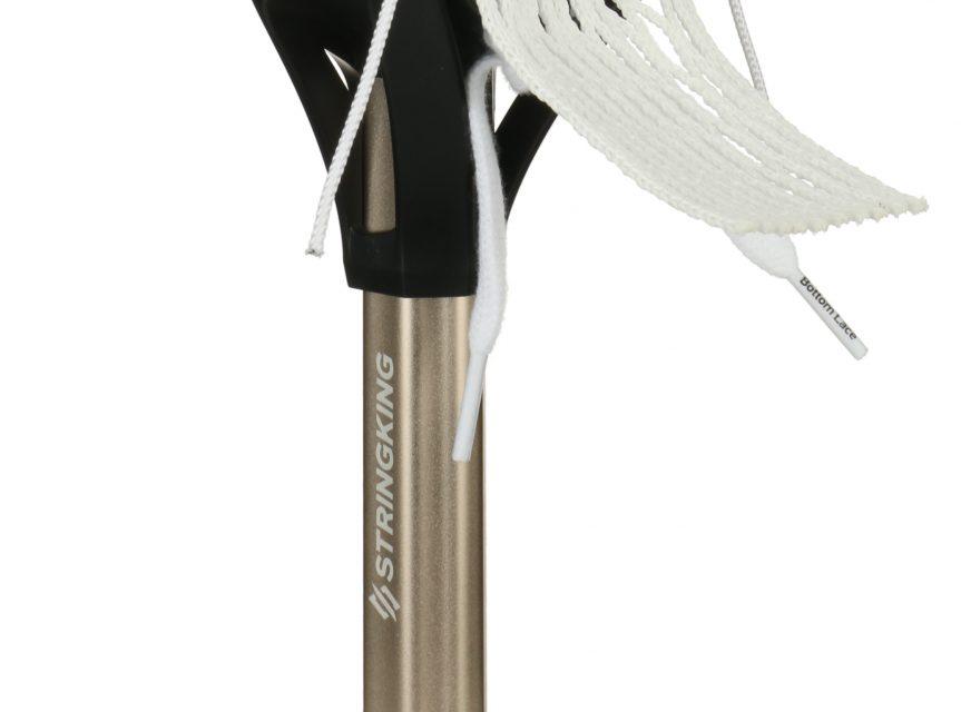StringKing Complete 2 Intermediate Men's Lacrosse Stick Shaft Back Angle Feature Black Nickel
