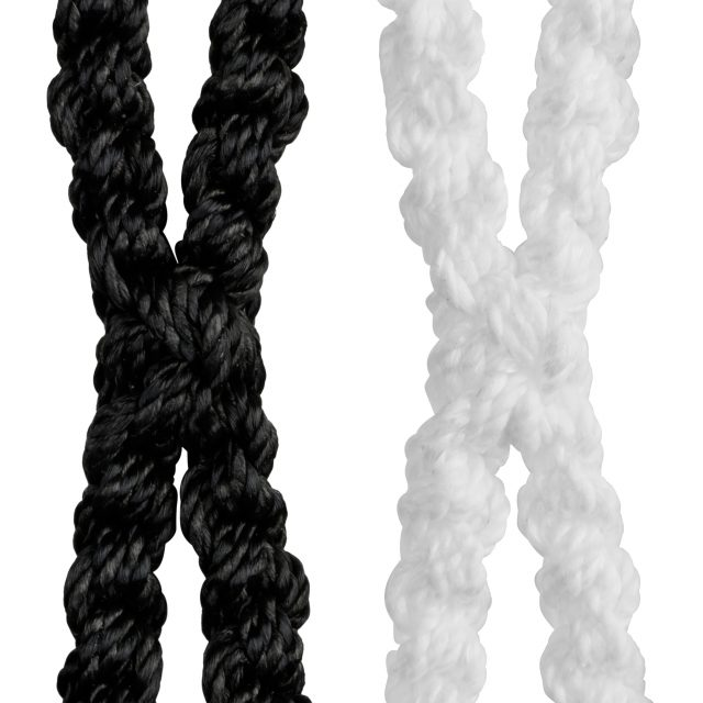 StringKing Grizzly 2 Goalie Mesh Tri Twist Technology Close Up Black White