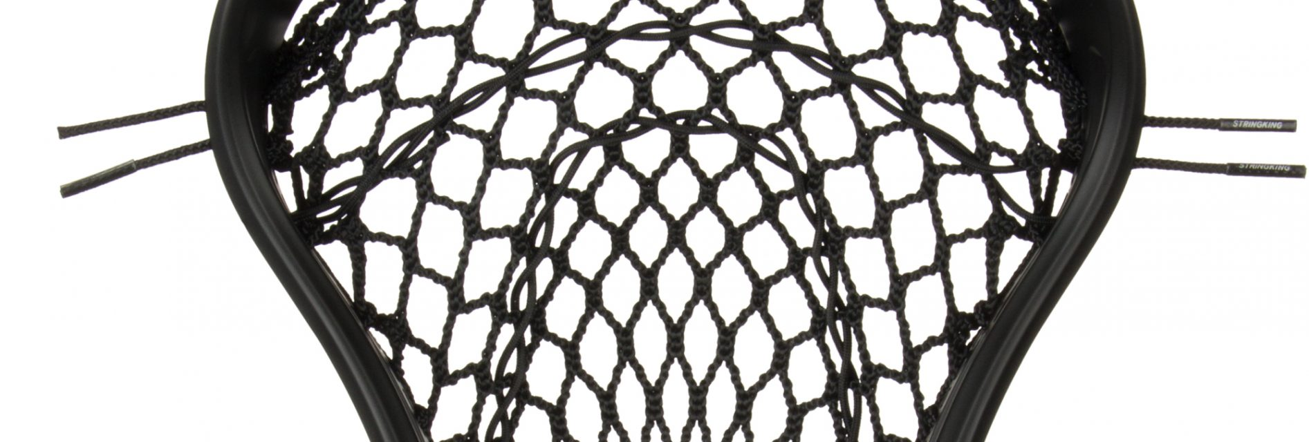 StringKing Women's Type W Lacrosse Mesh Head Face Channel Feature Black