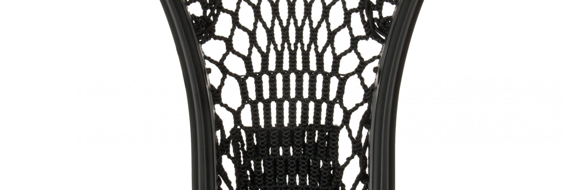 StringKing Women's Type W Lacrosse Mesh Head Face Channel Feature Mid Section Black