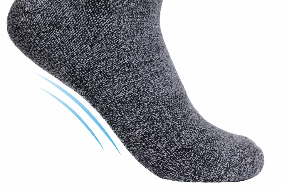 StringKing Athletic Crew Socks Premium Arch Support Gray