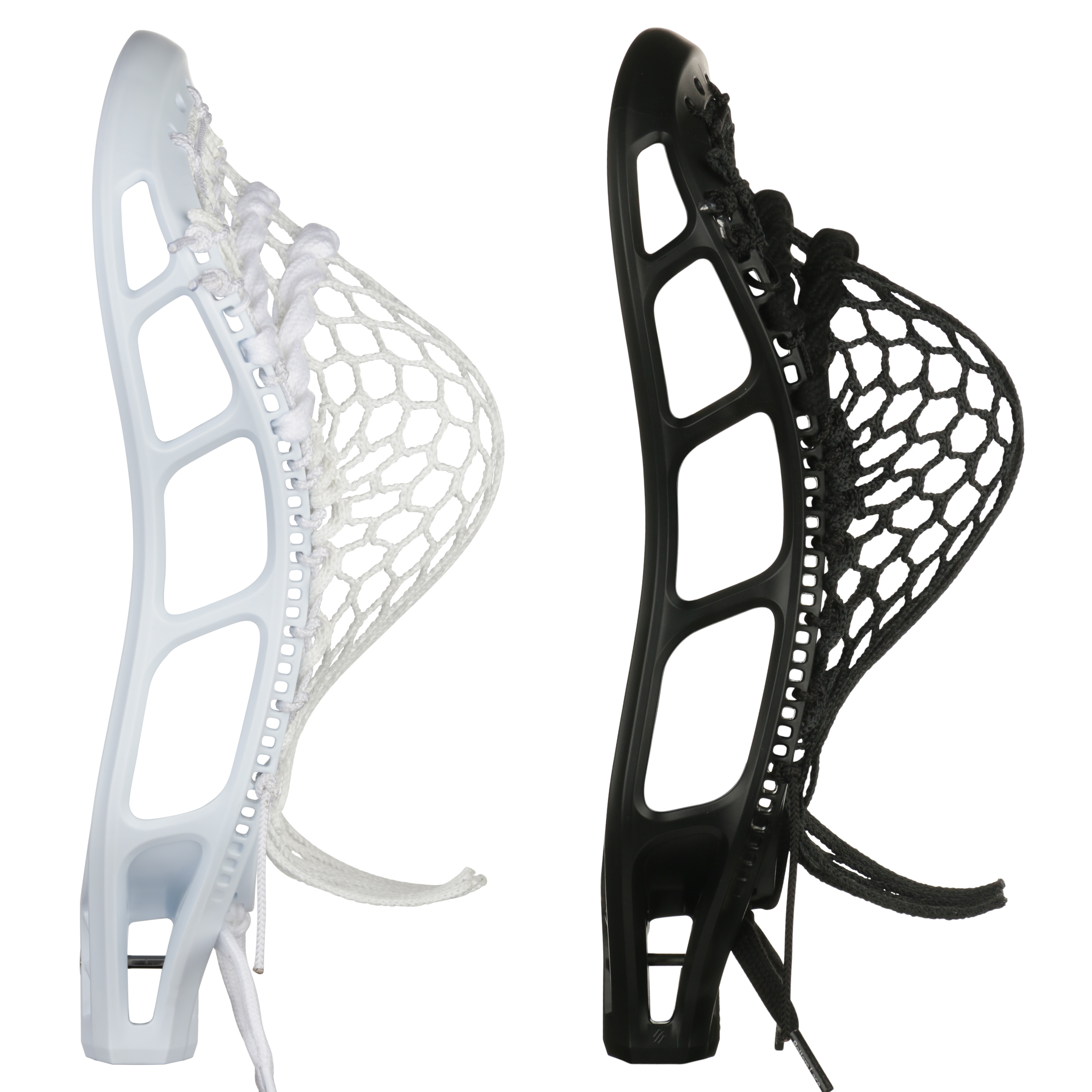 StringKing Mark 2D Defense Lacrosse Head Strung Pocket Black White