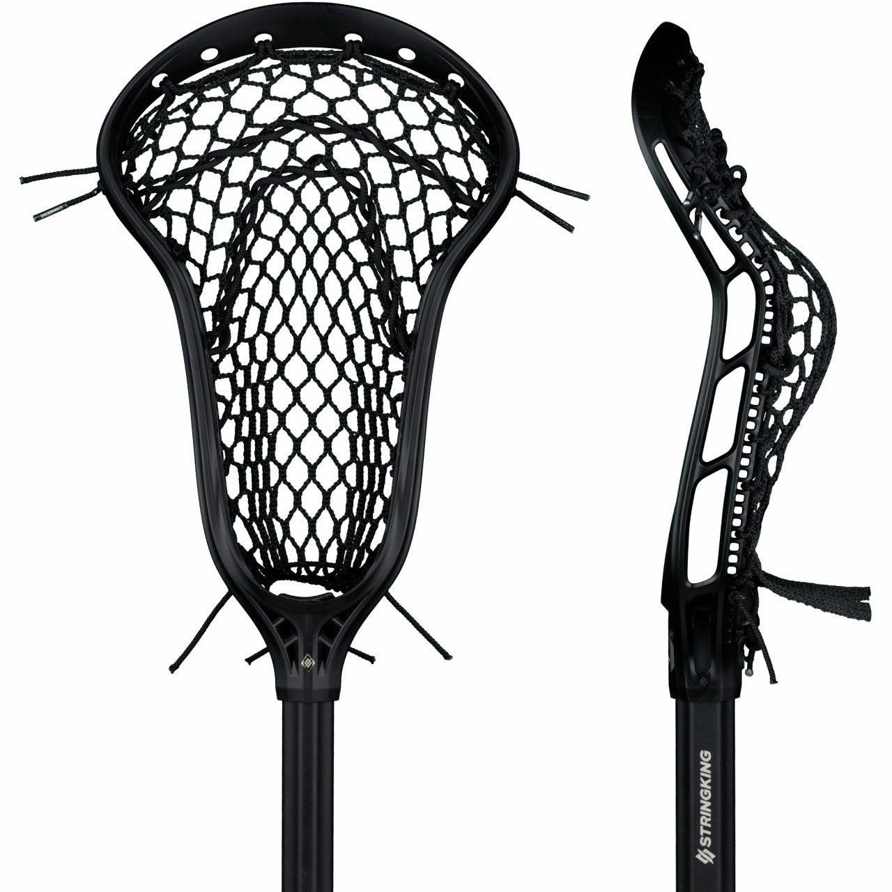 StringKing Women's Complete 2 Pro Defense Lacrosse Stick Face Pocket Black
