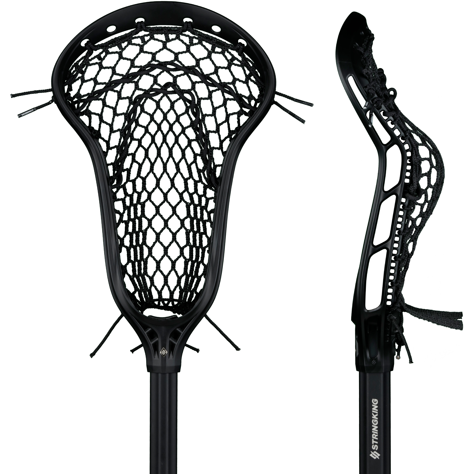StringKing Women's Complete 2 Pro Defense Lacrosse Stick Face Pocket Black