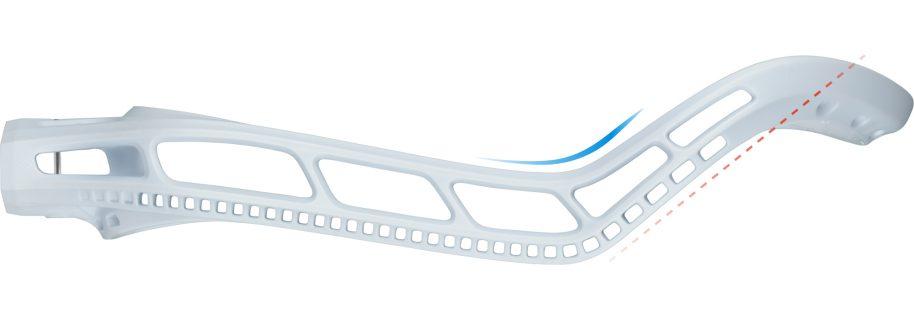 SringKing Women's Mark 2 Offense Lacrosse Head Unstrung White Offset Speed Feature