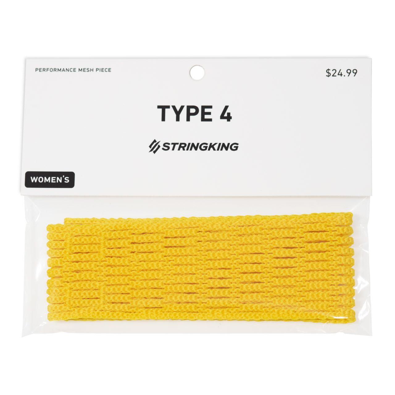 StringKing Women's Type 4 Mesh String Kit Packaging Yellow