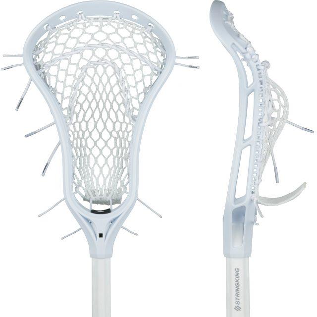 StringKing Women's Complete Lacrosse Stick Original Face Pocket White