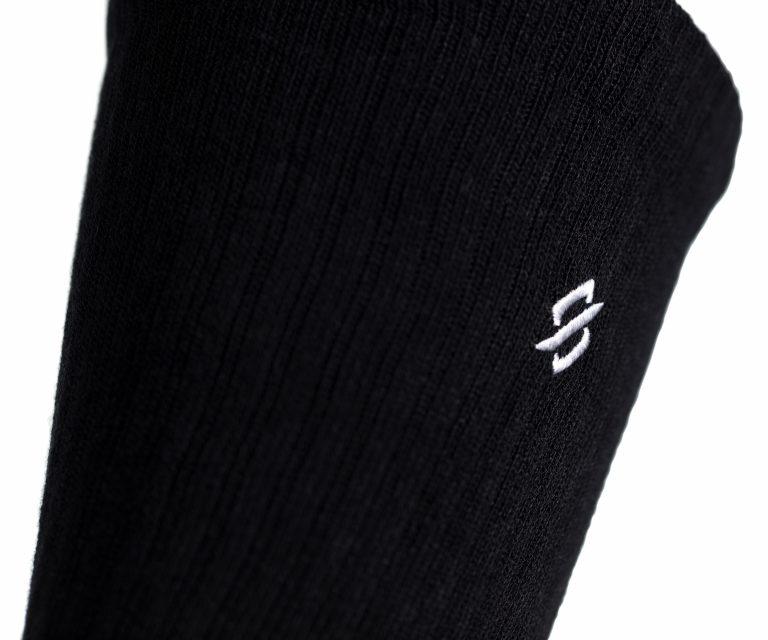 StringKing Athletic Crew Socks Performance Fibers Black