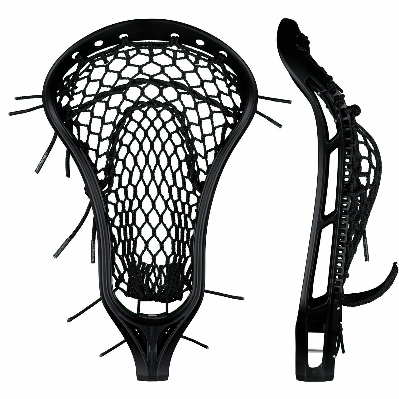StringKing Women's Legend W Lacrosse Head Strung Face Pocket View Black Black