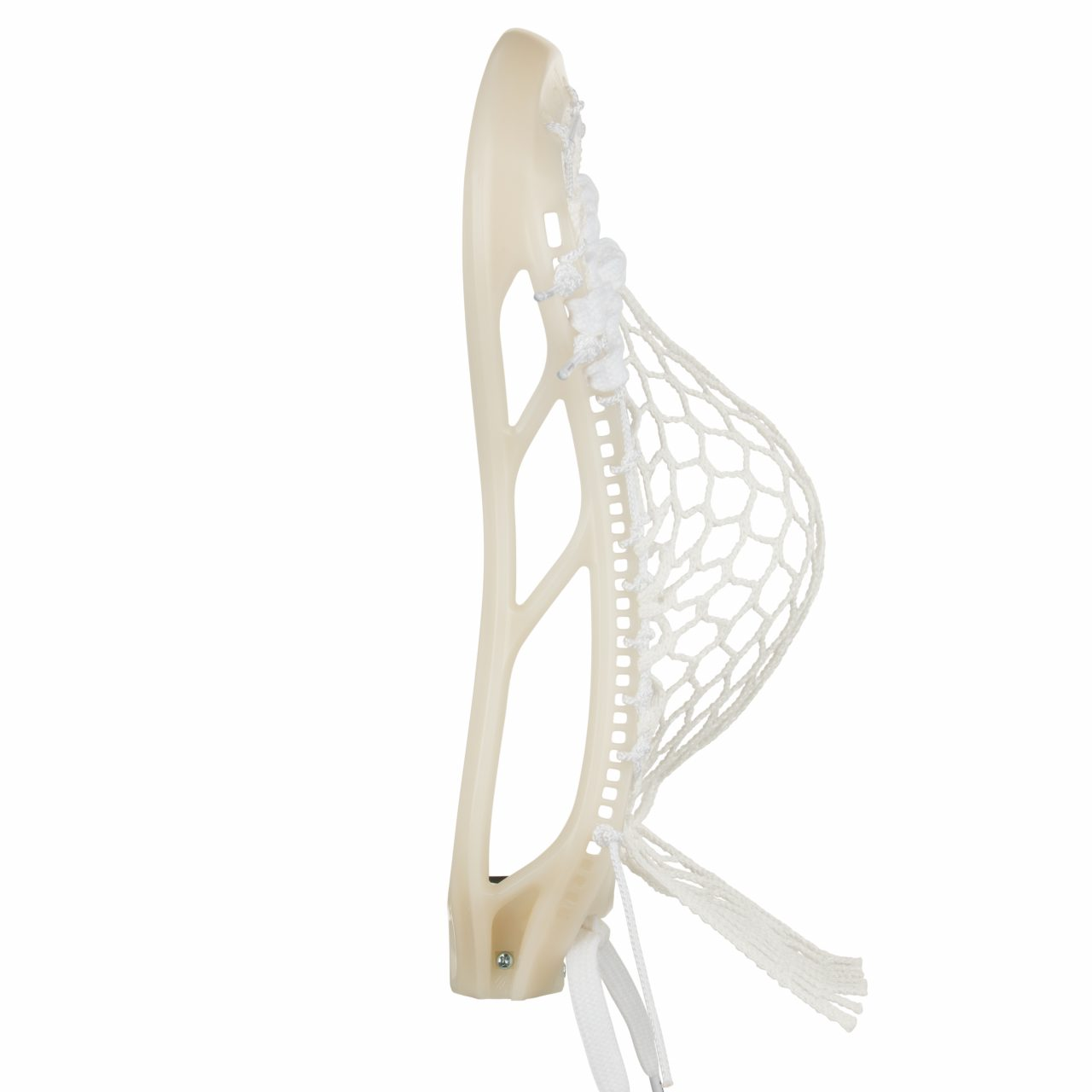 StringKing Mark 2F Face Off Lacrosse Head Strung Raw White Pocket Side View