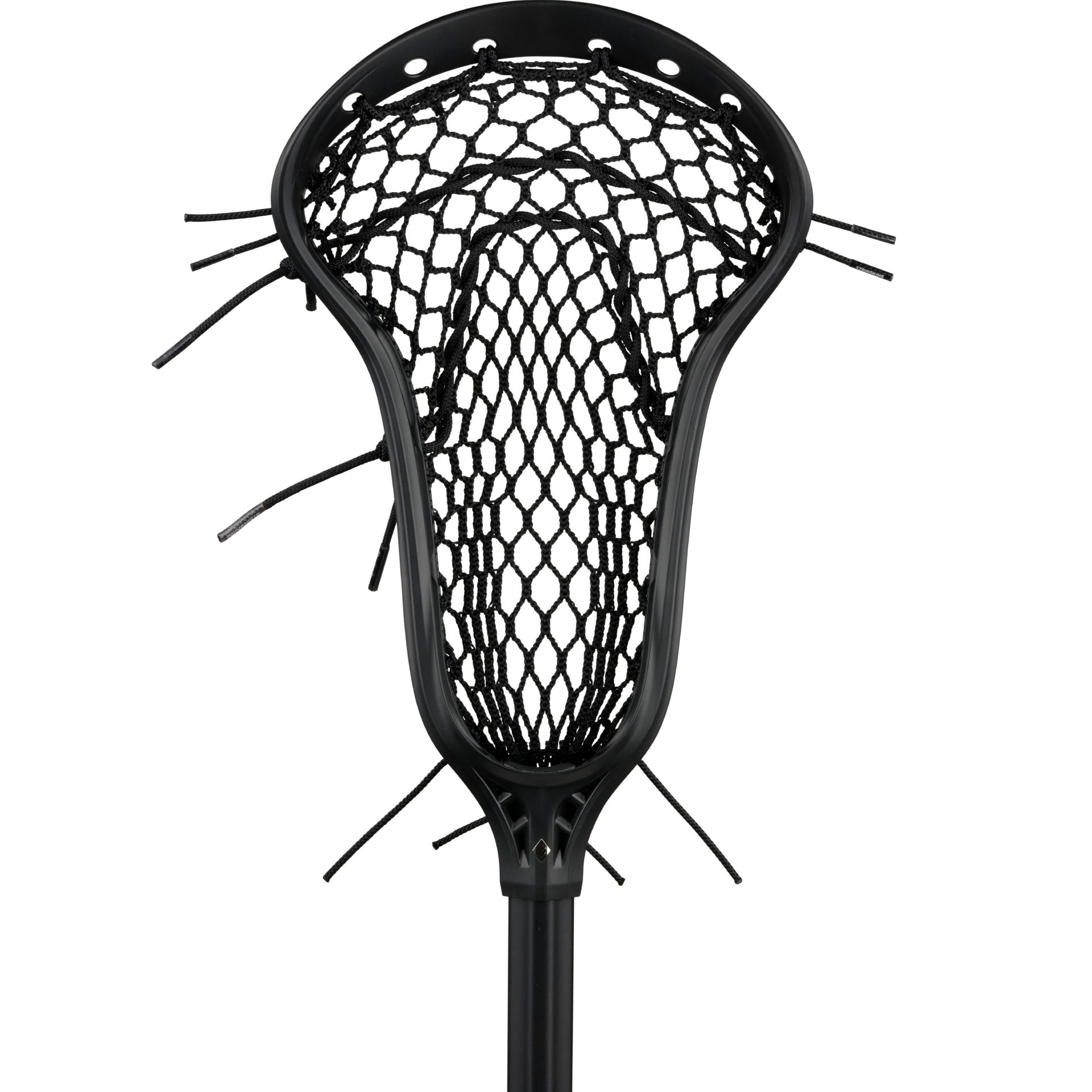 StringKing Complete 2 Pro Midfield Lacrosse Stick Face Strung Black