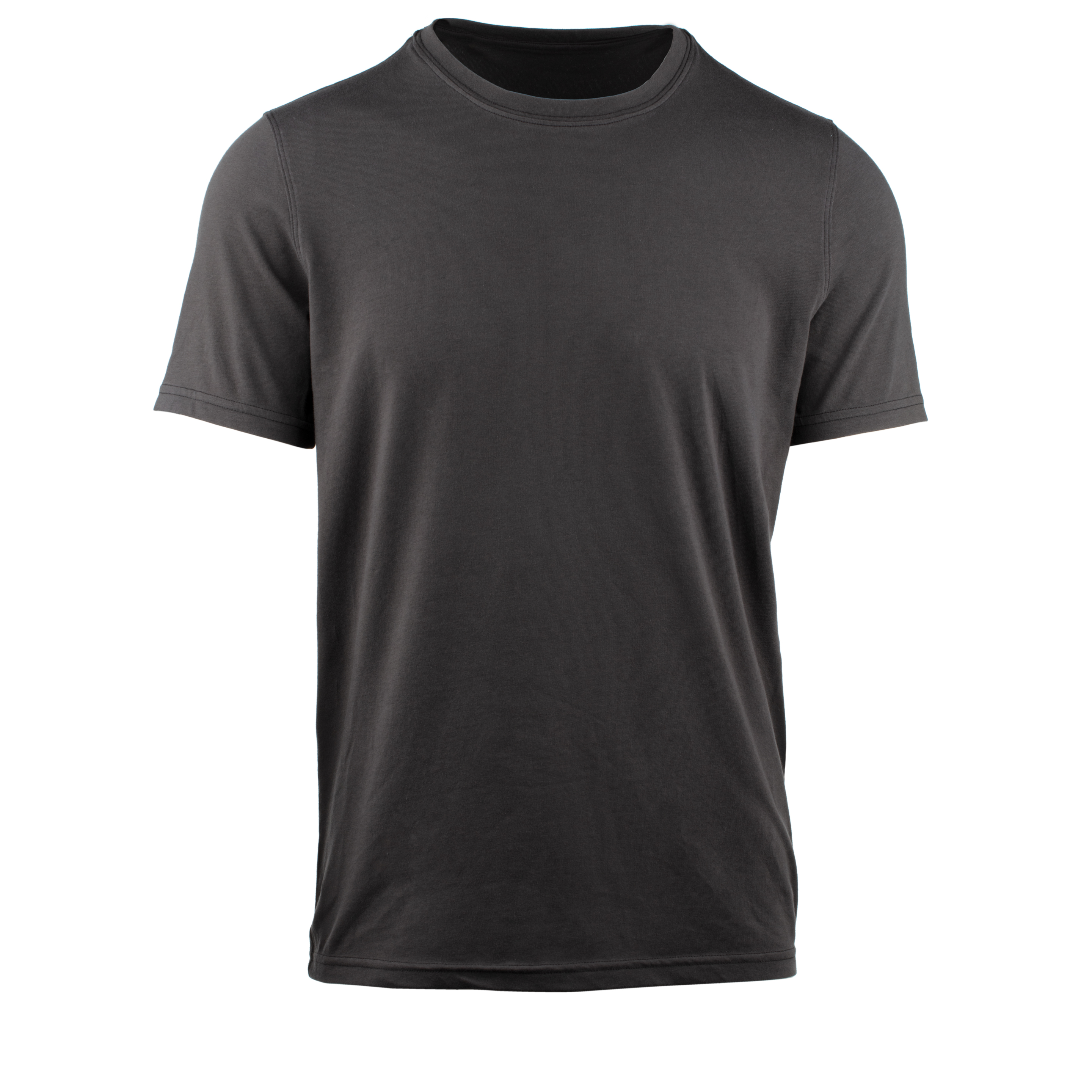 StringKing Apparel Casual T Shirt Light Black Gallery Front View