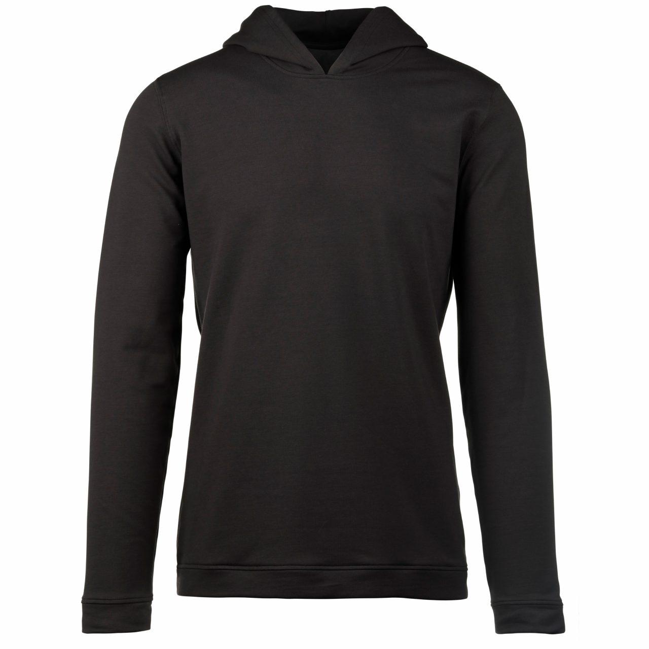 StringKing Apparel Hoodie Sweatshirt Light Black Front View