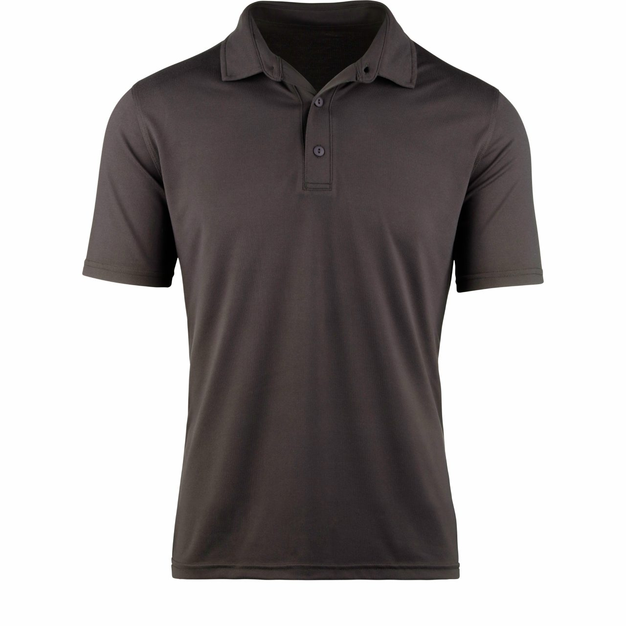 StringKing Apparel Athletic Polo Light Black Short Sleeve Front View