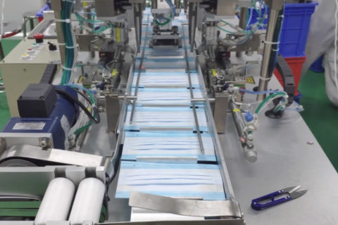 Disposable Single Use 3 Layer Face Masks Production Video Assembly Line