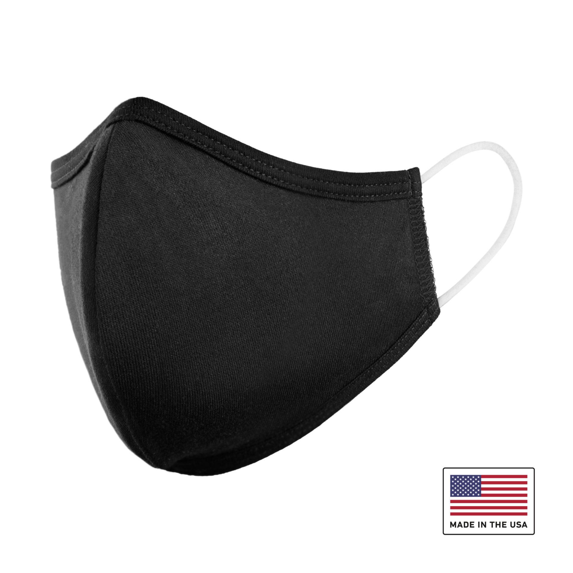 Washable Cloth Face Mask USA Made Black Fabric PPE